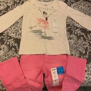 Sonoma girls long sleeve T-shirt and pants.